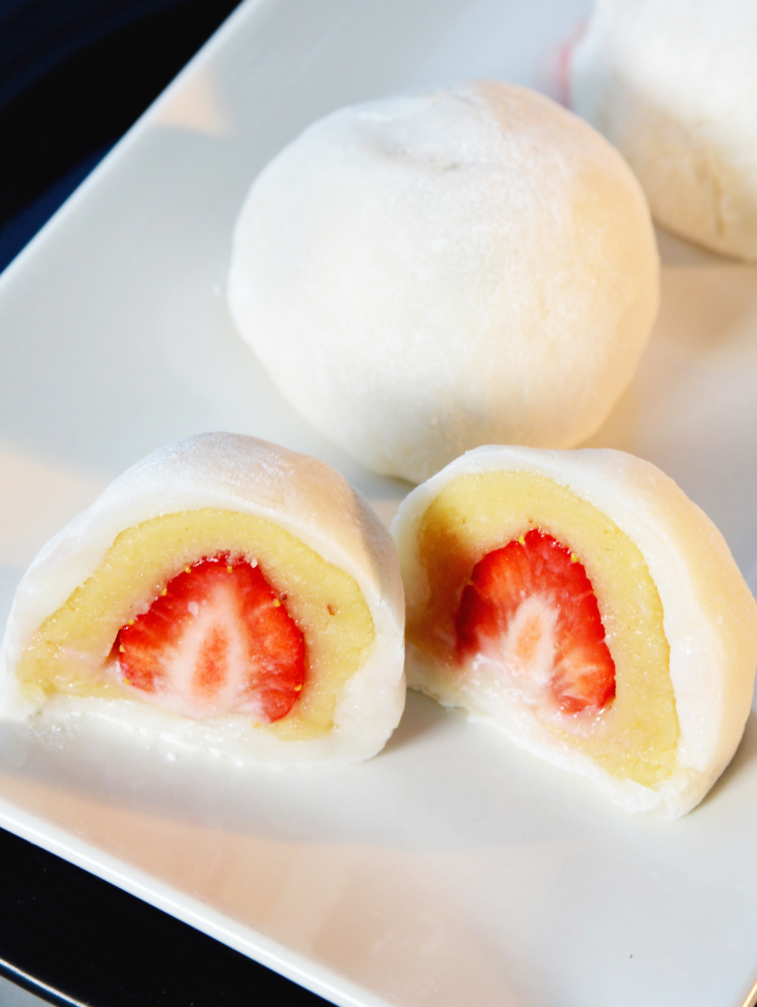 Mochi à la fraise