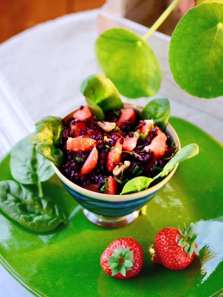 Salade de Riz sauvage aux fraises