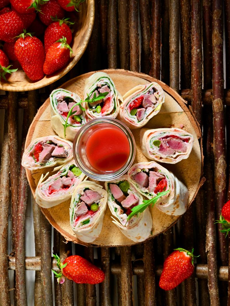 wraps canard fraises