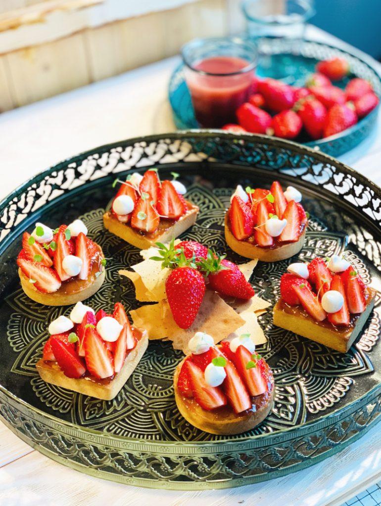 Tartelette fraise-rhubarbe